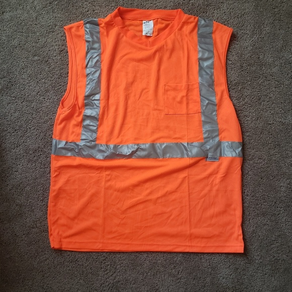 Ns Shirts Orange Safety Shirt Vest Reflective Extra Large Poshmark